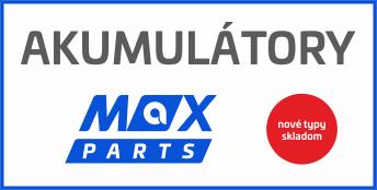 Nové typy akumulátorov MAX PARTS skladom!